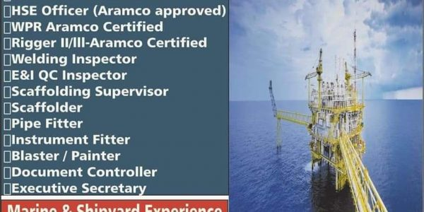HIRING FOR OFFSHORE & MARINE SERVICES COMPANY