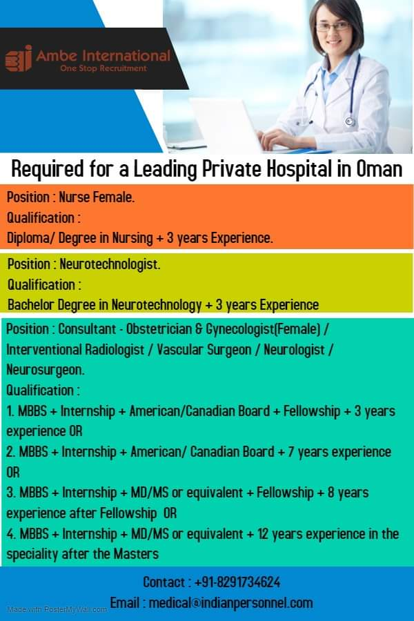 REQUIREMENT FOR A LEADING PRIVATE HOSPITAL