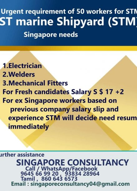 URGENTLY REQUIRED OF 50 WORKERS FOR STM