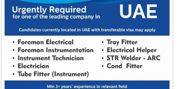 URGENTLY REQUIRED FOR ONE OF THE LEADING COMPANY