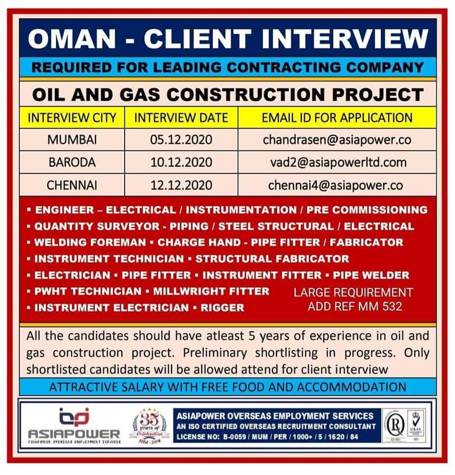 OIL & GAS CONSTRUCTION PROJECT-OMAN