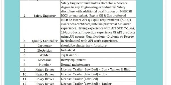 URGENTLY REQUIRED FOR RAMSIS ENGINEERING