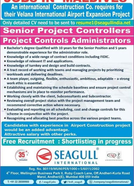 REQUIREMENT FOR INTERNATIONAL CONSTRUCTION COMPANY