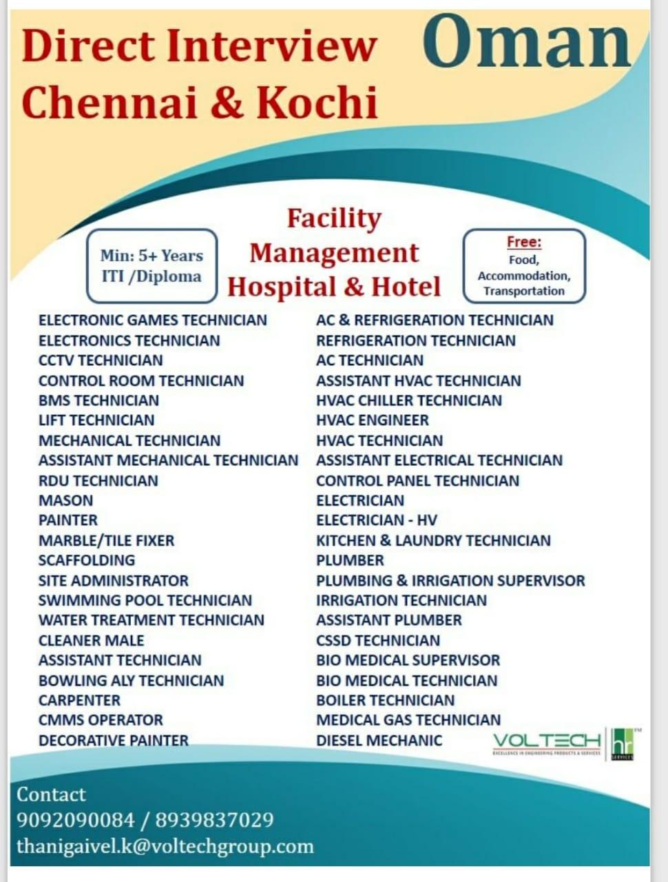 FACILITY MANAGEMENT HOSPITAL & HOTEL-OMAN