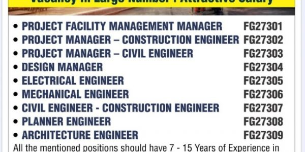 URGENTLY REQUIRED FOR A REPUTED ENGINEERING CONSULTANCY COMPANY