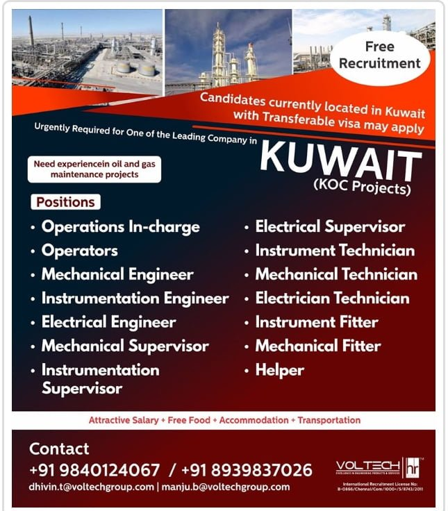URGENTLY REQUIRED FOR A ONE OF THE LEADING COMPANY