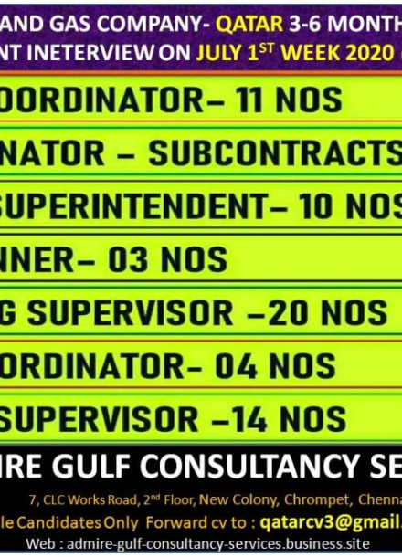 REQUIREMENT FOR A LEADING OIL & GAS COMPANY