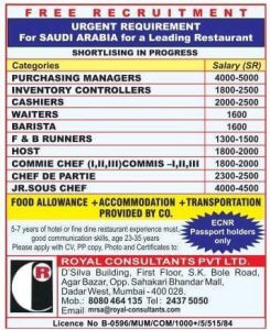 LEADING RESTAURANT JOBS