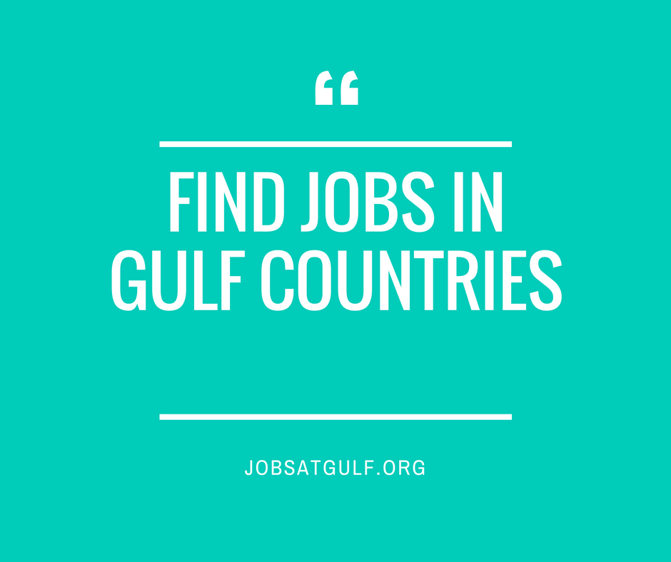 HOW TO FIND JOBS IN GULF COUNTRIES