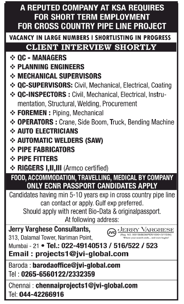TIMES OF INDIA TODAY JOBS IN MIDDLE EAST COUNTRIES