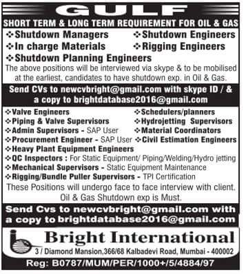 Shine Jobs Current Vacancies In Gulf