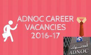 ADNOC career vacancies