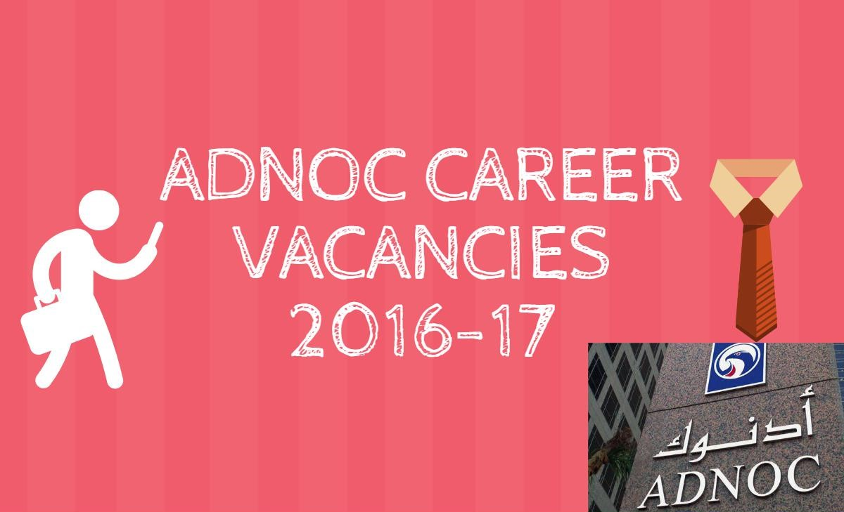 ADNOC career vacancies