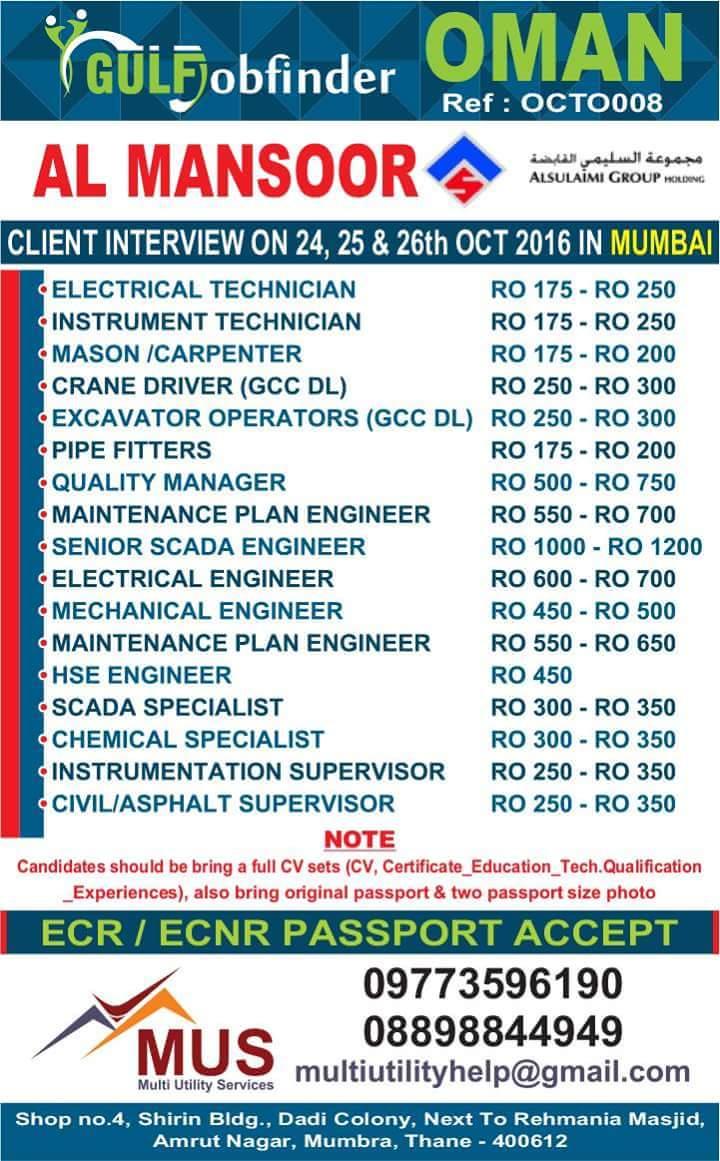 Mechanical Technician Gulf Jobs