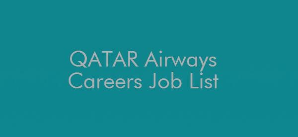 QATAR AIRWAYS CAREERS JOB LIST