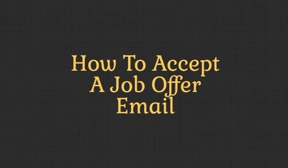 how to accept a job offer by email