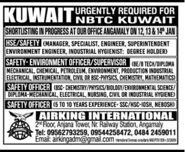 Jobs At Nbtc Group: Top Jobs In Kuwait National Petroleum Company