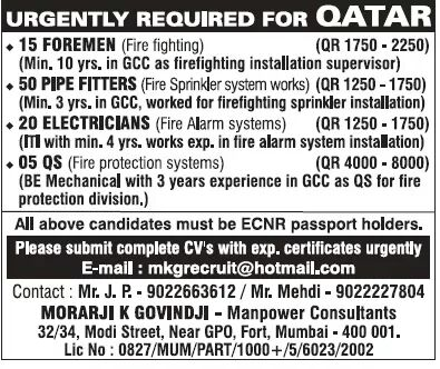 TECHNICIAN jobs QATAR