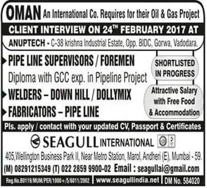 OIL AND GAS JOBS IN OMAN
