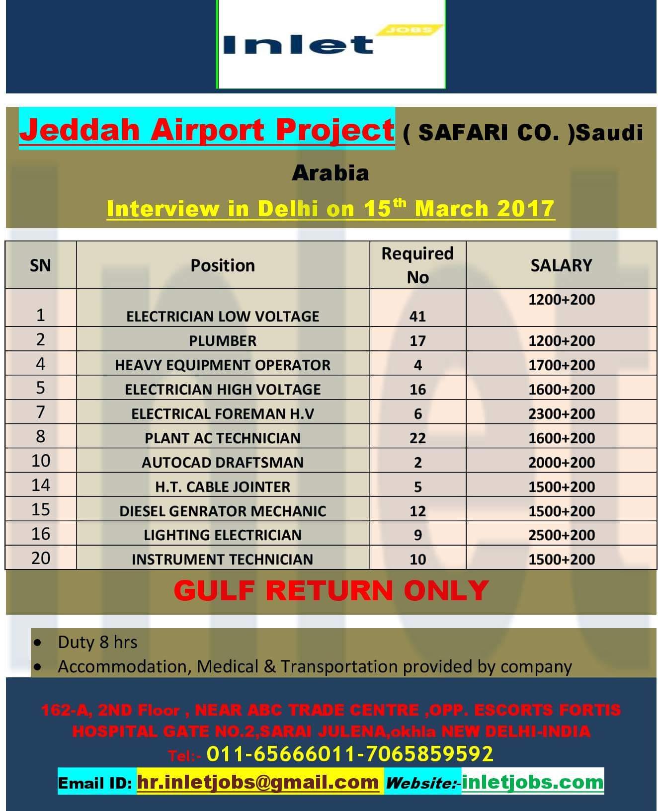 AIRPORT JOB VACANCIES IN SAUDI ARABIA - JOBS AT GULF