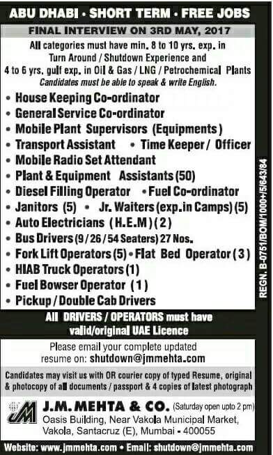 JOBS IN ABU DHABI