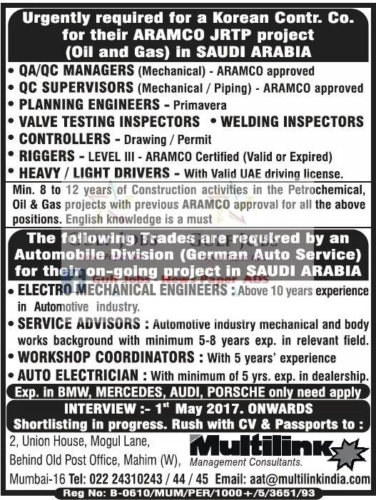 Jobs I saudi Arabia