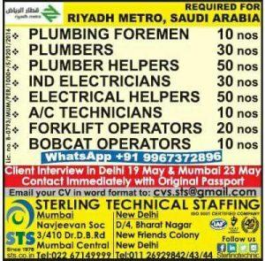 RIYADH METRO PROJECT JOBS
