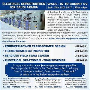 DIPLOMA IN ELECTRICAL ENGINEER JOBS IN MUMBAI AT GULF