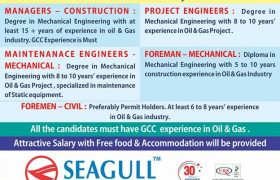 JOB VACANCIES IN GULF COUNTRIES