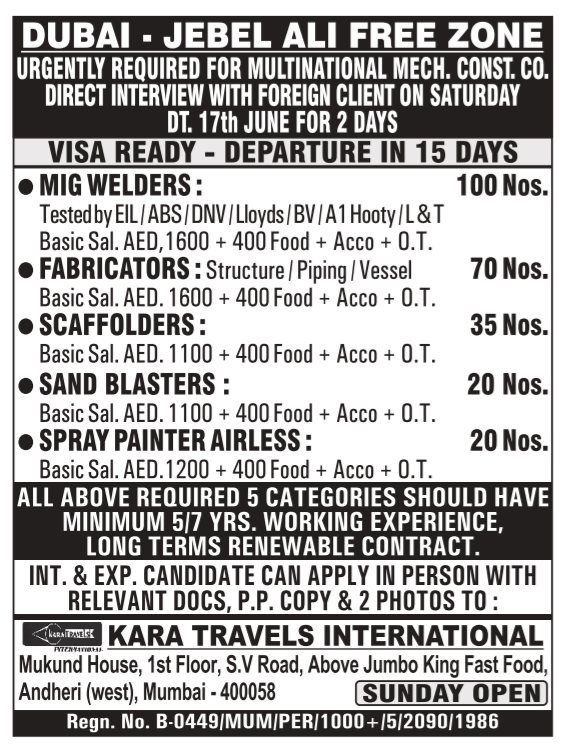 jebel ali free zone job vacancies