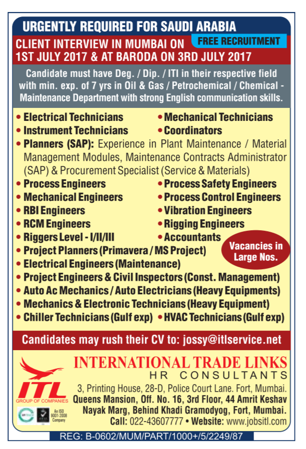 jobs in saudi arabia for indian graduates
