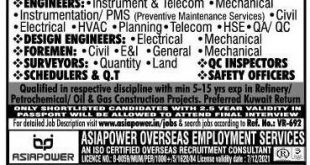 Asia power gulf jobs