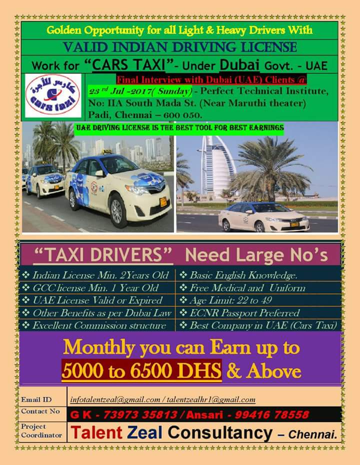 DRIVER JOBS IN GULF COUNTRIES