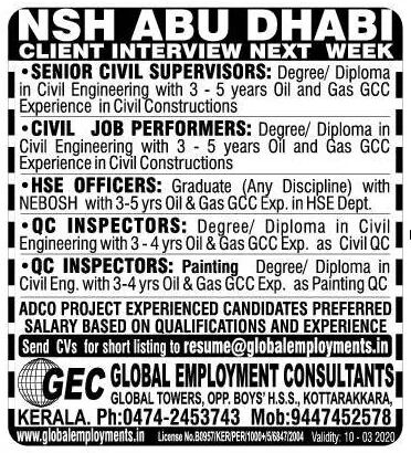 gulf jobs in Nasser's (NSH)