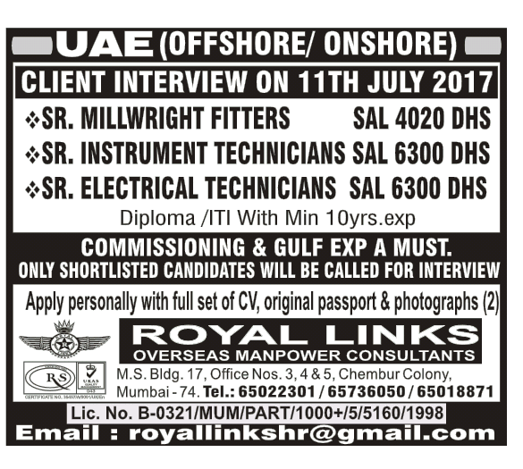 OFFSHORE JOBS IN GULF COUNTRIES
