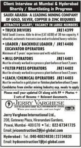 Vacancy in Large no KSA