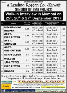 KUWAIT JOB VACANCY