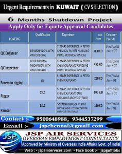 SHUTDOWN JOBS IN GULF 2017