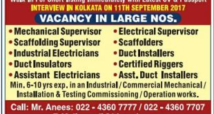WALK IN INTERVIEWS IN KOLKATA