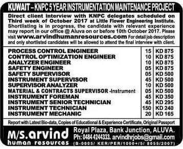 HIGH SALARY ENGINEERING GULF JOBS