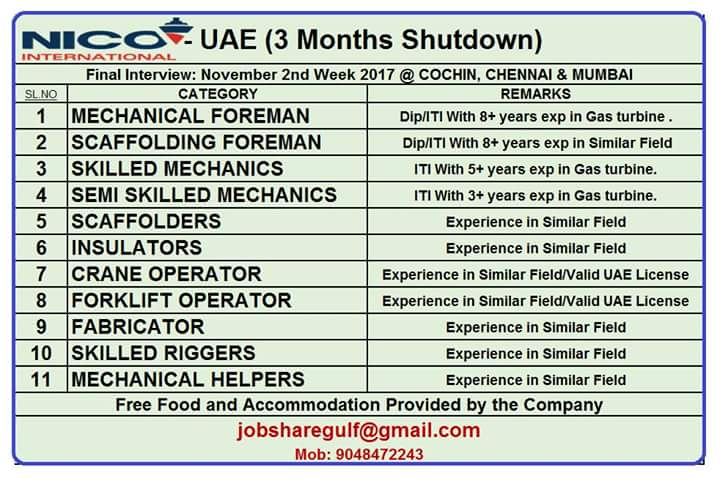 UAE WALK IN INTERVIEW