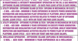 current offshore vacancies