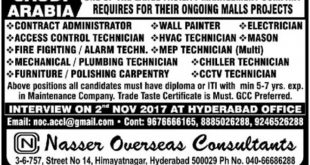 gulf jobs interview in hyderabad