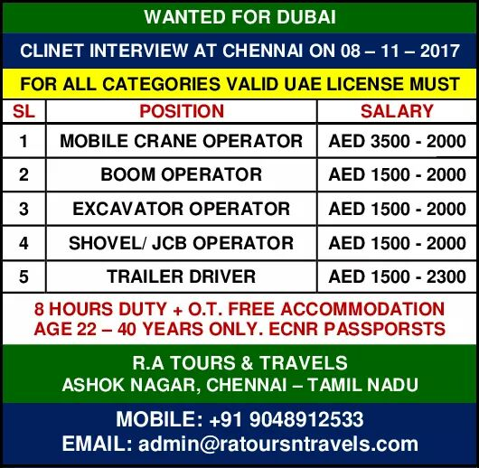 DRIVER JOBS IN GULF
