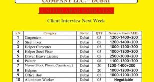gulf news jobs classifieds today
