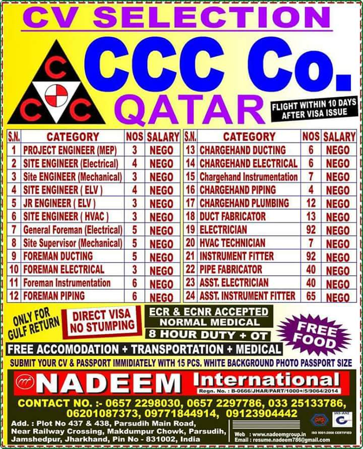 JOBS IN CCC