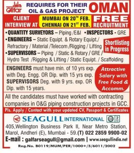 Abroad jobs Interview in Chennai