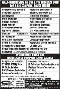 EXPATRIATES JOBS IN JEDDAH