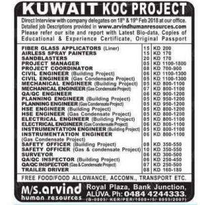 KUWAIT NEW JOB VACANCIES