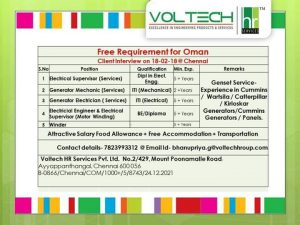 jobs in oman for indian